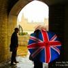 Postcard-The Union Jack Umbrella Still Reigns in London