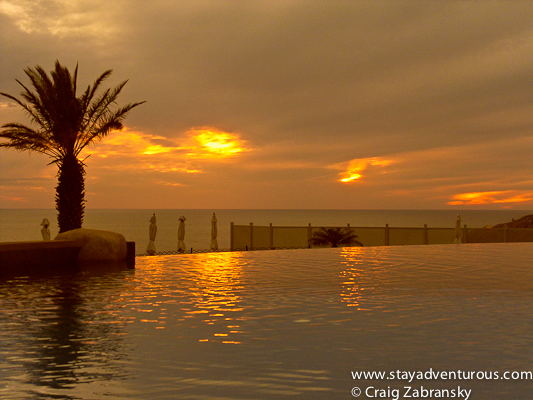 sunset at Pueblo Bonito Sunset Sky Pool