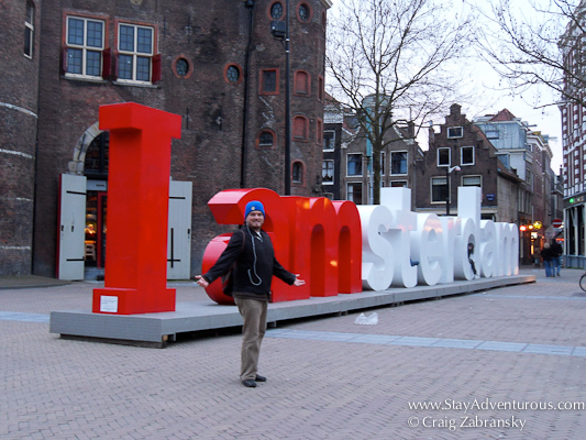 the new sign in Amerstam, I AMsterdam