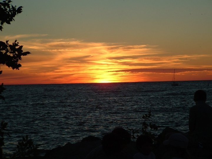 sunset on lake huron canada