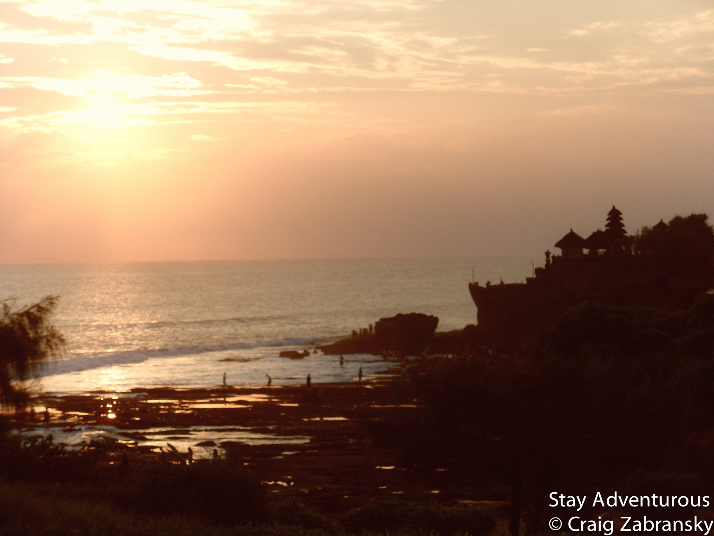 sunset at Tanah Lot Hindu Temple in Bali, Indonesia