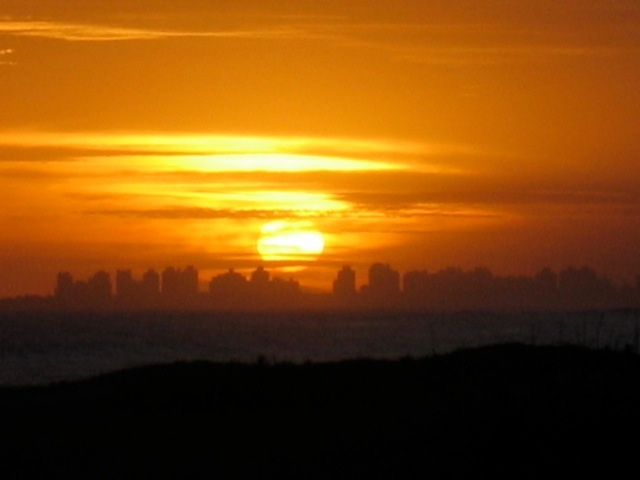 sunset in Punta del Este, Uraguay