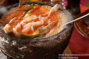 molcajete, a famous and delcious aztec dish served in Mexico