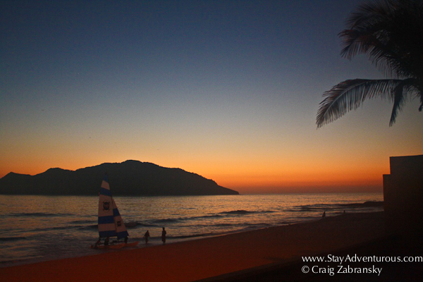 sunset at hotel playa mazatlan mexico