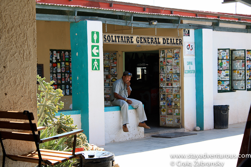 solitaire general store in the desert of Namibia