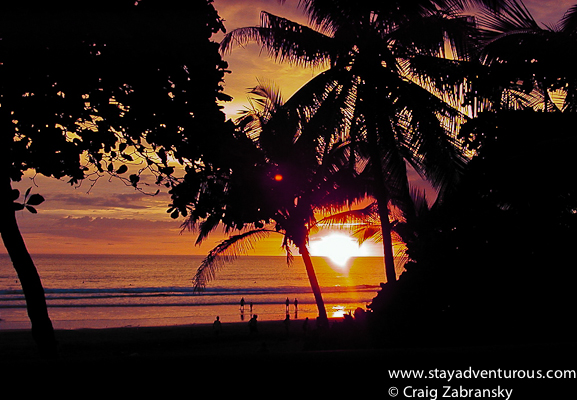 sunset in Jaco Costa Rica
