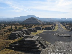 teotihuacan just outside mexico and the view from the pyramdi of the moon