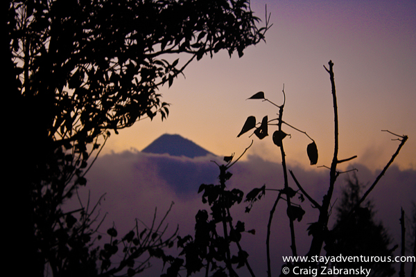 sunset from the Volcano Pacaya in Guatemala