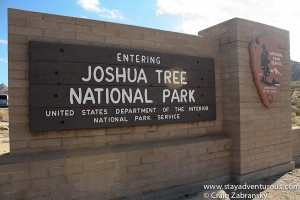 Joshua Tree National Park Enterance
