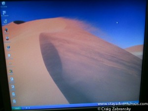 microsoft windows95 sand dune screen saver