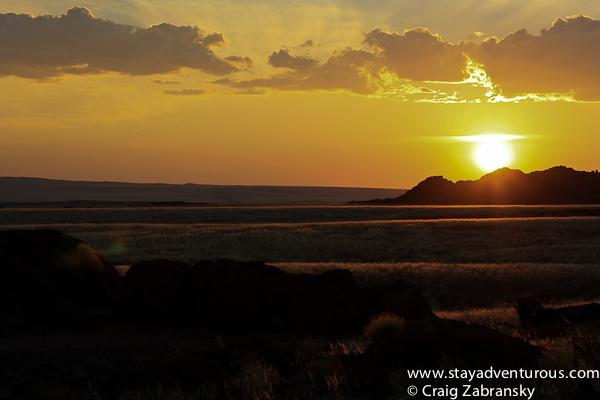 sunset in Sossusvlei Namibia