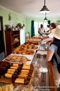 the line at the bakery in Solitaire, Namibia