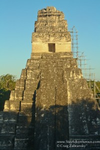 a sunset in Tikal Guatemala