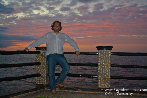 Craig Zabransky at sunset at Le Kliff outside of Puerto Vallarta, Jalisco, Mexico.