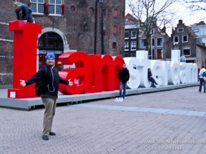 the I AMsterdam monument in Amsterdam, Holland