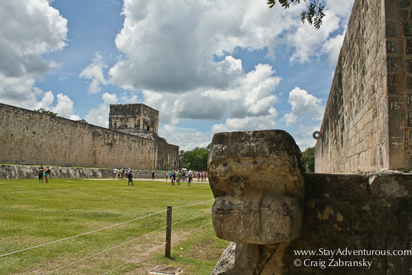 The Chichen Itza Mayan Ball Court Serpent