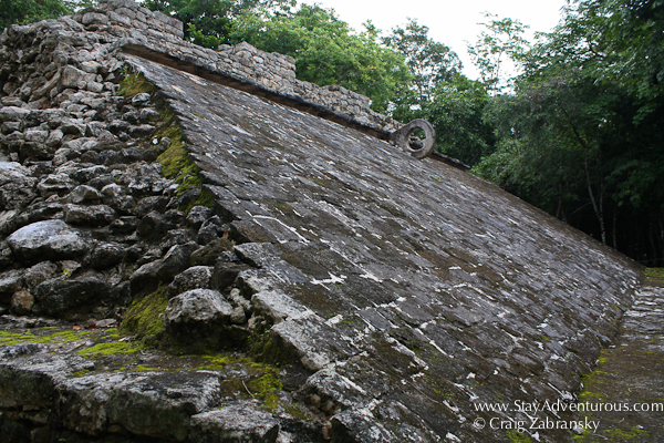 the mayan ball court of Coba in Mexico