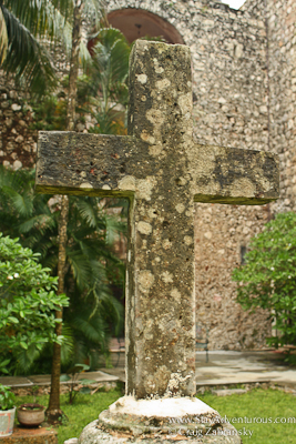 Courtyard Cross at San Bernardino Convent in Valladolid