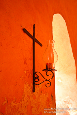 cross candle at San Bernardino Convent in Valladolid