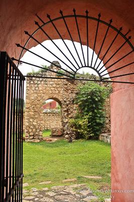 Looking outside in San Bernardino Convent in Valladolid