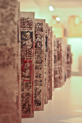view of a Mayan Codex in Guatemala City