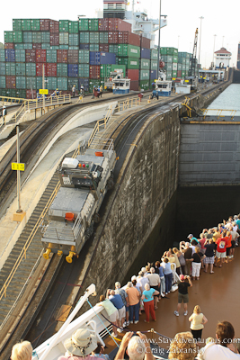 the mule of the gatun locks, panama canal