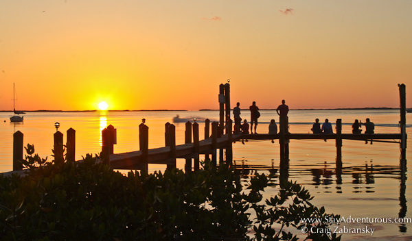 sunset at bayside grille in key largo