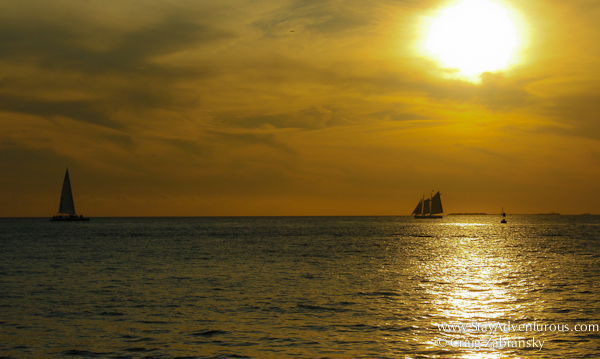 sunset view from mallory square in key west