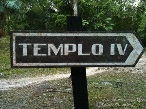 templo IV sign in Tikal