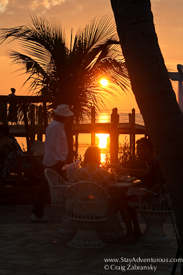 watching the sunset at mm88 in the upper florida keys