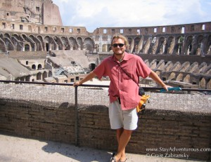 at the Rome Coliseum