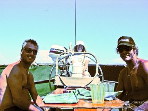 the captain and chef take a break when sailing the greek islands