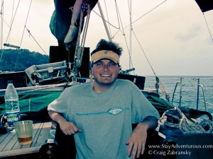 Craig Zabransky sailing the Greek Islands