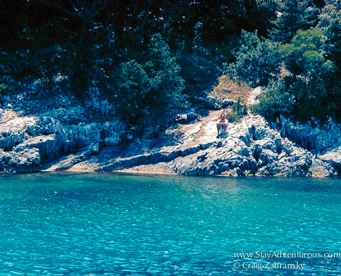 Swam ashore to one of the Greek Ionian Islands