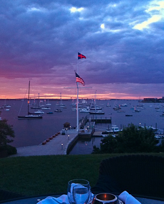 sunset in newport, rhode island