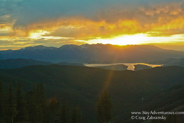 the sunset atop keystone mountain resorts outpost in colorado