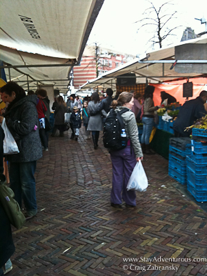 shopping at Noordermarkt on Saturday