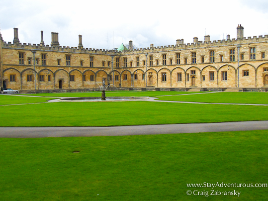 the courtyard at Christ Church College in Oxford