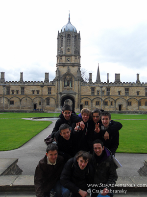 group photo at Christ Church in Oxford