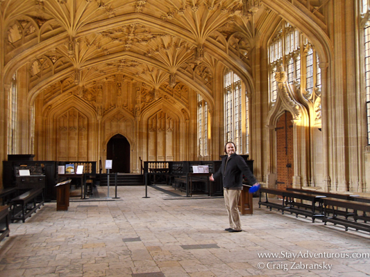 the infirmary used for the Harry Potter film at Oxford