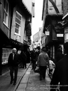 view of the shambles in York, England