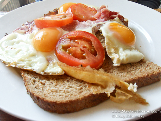 open-faced egg sandwich of Amsterdam
