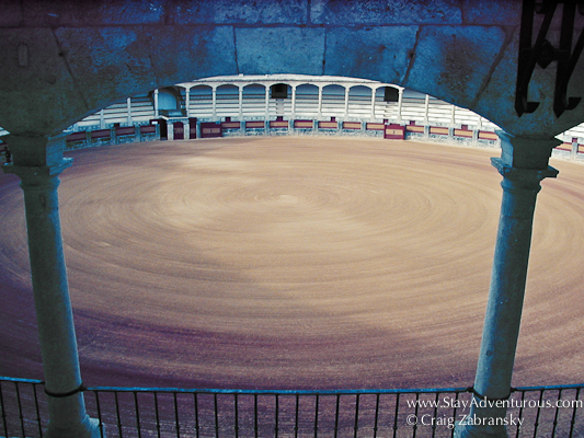 the bullring for bullfighting in ronda, Andalucia Spain