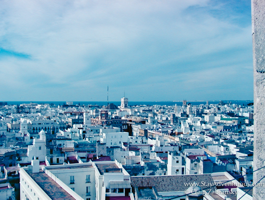 the view of Cadiz, Andalusia, Spain