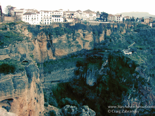 the gorges and white washed buildings of Ronda, Andalucia, Spain