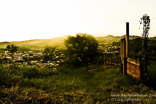 the view of Santiago Tuxtla from the road in Veracruz, Mexico