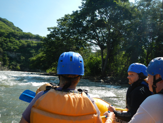 white water rafting on the la antigua river in jalcomuco, veracruz