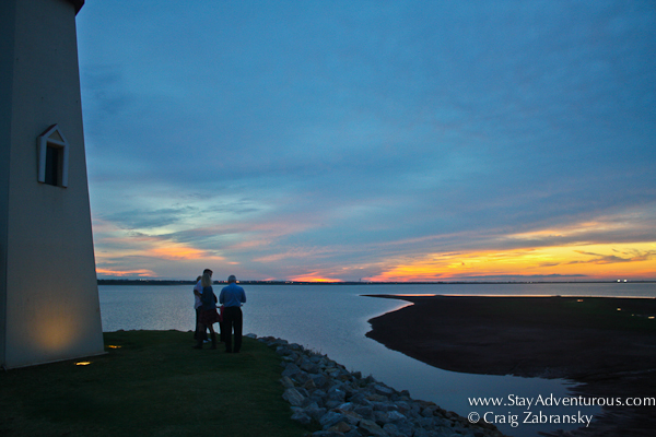 sunset at the lighthouse, lake hefner oklahoma city