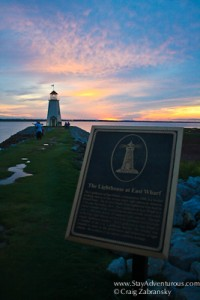 the lighthouse at Lake Hefner in Oklahoma City at Sunset