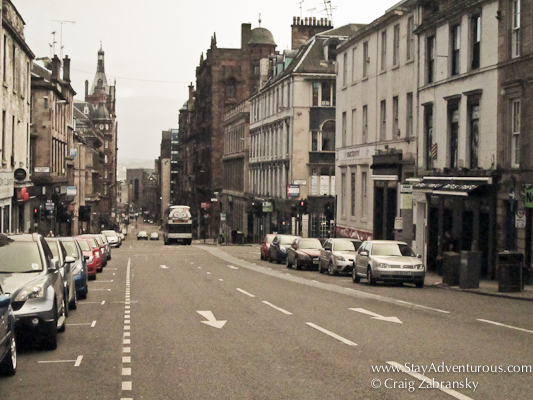 the streets of Glasgow, Scotland. It's a Hill.